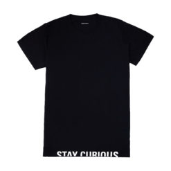 Explorio Stay Curious Premium T-Shirt Black Front