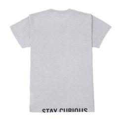 Explorio Stay Curious Premium T-Shirt Gray Back