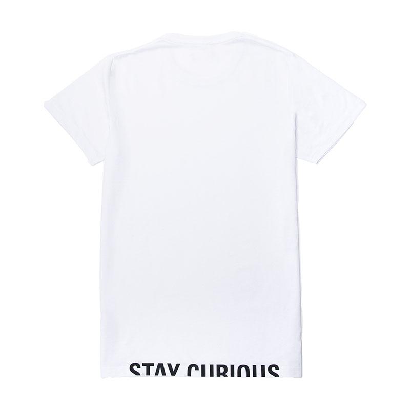Explorio Stay Curious Premium T-Shirt White Back