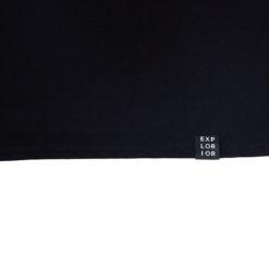 Explorior Minimalist T-Shirt Black Close-up