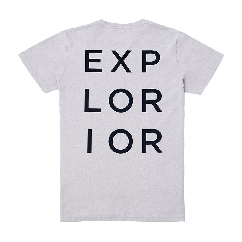 Explorior Original T-Shirt Gray Back