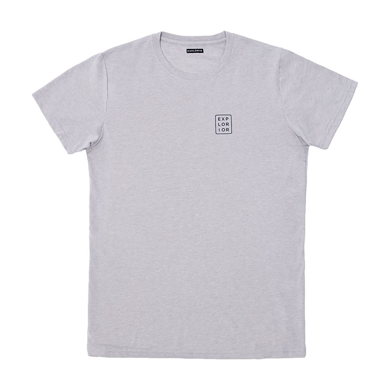 Explorior Original T-Shirt Gray Front