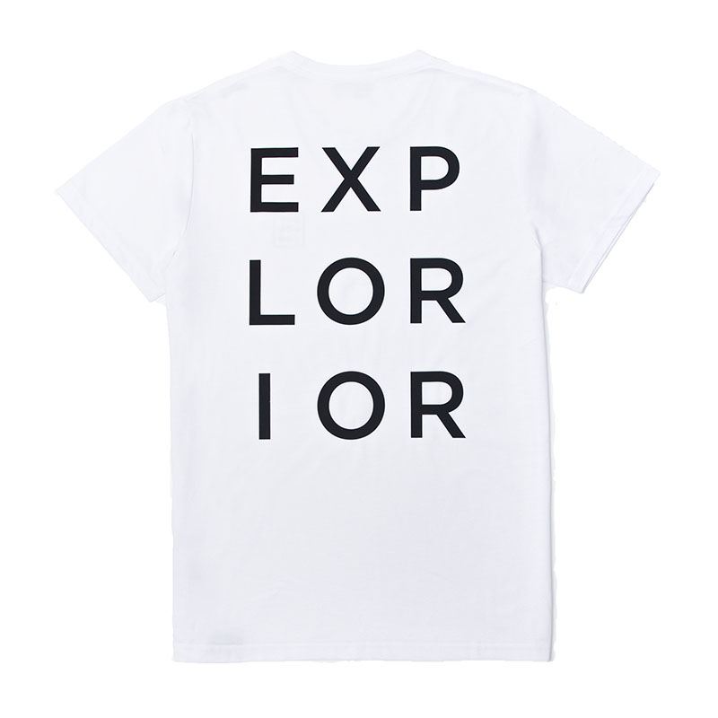 Explorior Original T-Shirt White Back