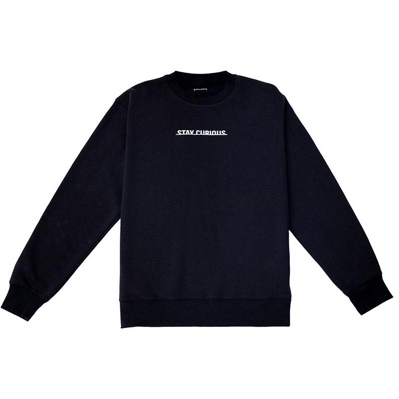 Stay Curious Sweatshirt Black