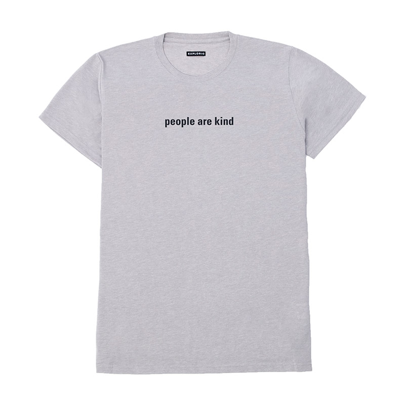 Explorio People Are Kind T-Shirt Grey